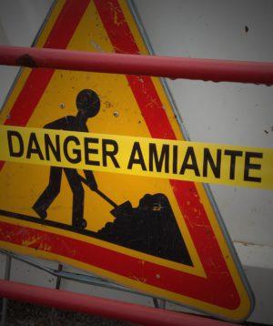 Danger Amiante, Panneau, Travaux